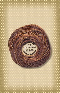 Toffee Valdani Colorfast Perle Cotton