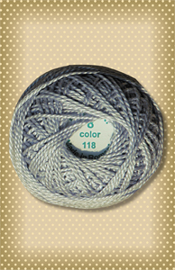 Pearl Gray Valdani Colorfast Perle Cotton-Valdani perle cotton, embroidery, stitchery wool applique