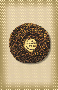 Twisted Tweed Valdani Golden Brown Perle Cotton