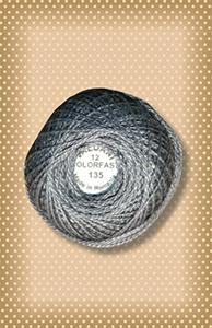 Beaver Gray -Dark  Valdani Colorfast Perle Cotton