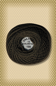 Dark Olive Green Valdani Colorfast Perle Cotton