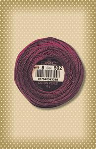 DMC Garnet Perle Cotton, sz 8