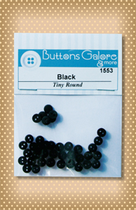 Button Package Tiny Black