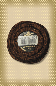 DMC Dark Coffee Brown Perle Cotton, sz. 8