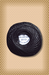 Black Dark  Valdani Colorfast Perle Cotton