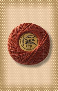 Red Copper/Burnt Orange Presencia Finca Perle Cotton