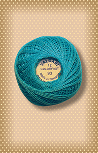 Turquoise Valdani Colorfast Perle Cotton