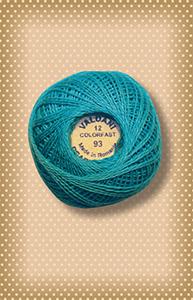Turquoise Valdani Colorfast Perle Cotton