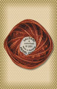 Rust Valdani Colorfast Perle Cotton