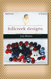 Button Package July Blooms