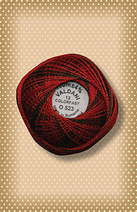 Cherry Basket  Valdani Colorfast Perle Cotton