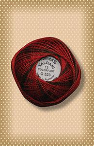Cherry Basket  Valdani Colorfast Perle Cotton