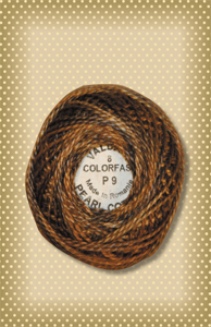 Bronze Valdani Colorfast Perle Cotton-Valdani perle cotton, embroidery, stitchery wool applique