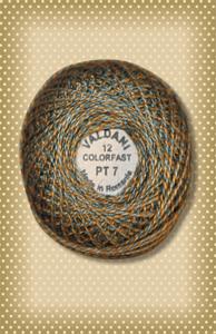 Twisted Tweed Valdani Teal Perle Cotton