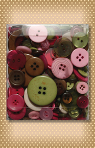 Variety Buttons Tote Bag Rose Garden