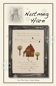 The Place Called Home-hand dyed wool, wool applique, wool applique pattern,