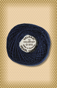 Midnight Blue  Valdani Colorfast Perle Cotton