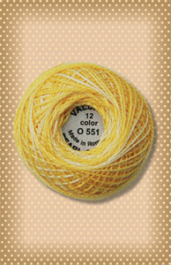 Sunshine Valdani Colorfast Perle Cotton-Valdani perle cotton, embroidery, stitchery wool applique