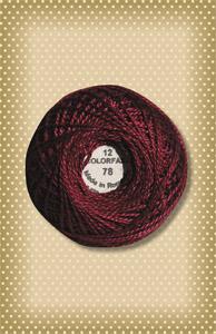 Rusty Burgundy Valdani Colorfast Perle Cotton