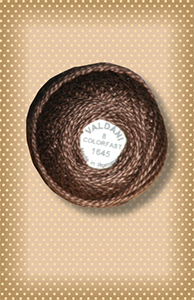 Dark Red Brown Colorfast Perle Cotton