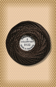 Brown Black Valdani Colorfast Perle Cotton