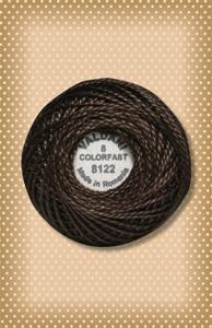 Brown Black Valdani Colorfast Perle Cotton