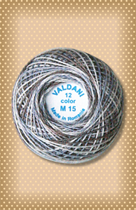 Shades of Gray Valdani Colorfast Perle Cotton
