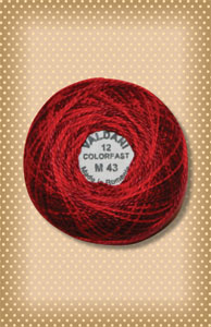 Vibrant Reds Valdani Colorfast Perle Cotton