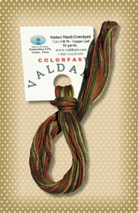 Copper Leaf Valdani Colorfast Embroidery Floss
