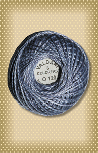 Stormy Sky  Valdani Colorfast Perle Cotton