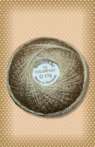 Tea Dyed Stone Valdani Colorfast Perle Cotton