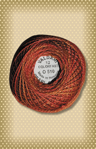 Terracotta Twist  Valdani Colorfast Perle Cotton