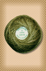 Green Olive Valdani Colorfast Perle Cotton