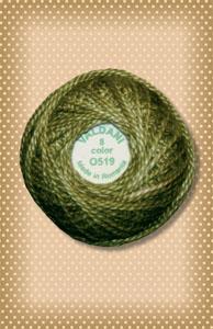 Green Olive Valdani Colorfast Perle Cotton