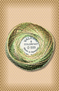 Watery Weed  Valdani Colorfast Perle Cotton