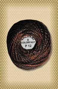Rich Brown  Valdani Colorfast Perle Cotton