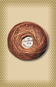 Rusted Orange  Valdani Colorfast Perle Cotton