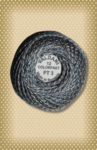 Twisted Tweed Valdani Blue Perle Cotton