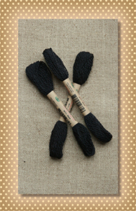 Black Valdani Wool Floss