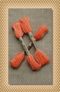 Peach Orange Valdani Wool Floss