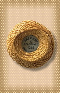 Mustard Seed Valdani Colorfast Perle Cotton