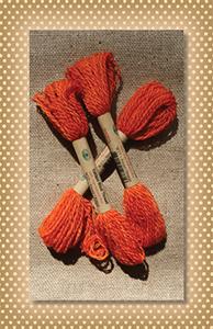 Sweet Orange Valdani Wool Floss