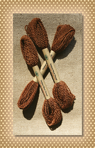 Brown Valdani Wool Floss