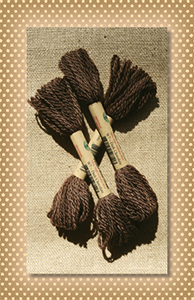 Dark Chocolate Valdani Wool Floss