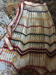 Vintage Hand Crocheted Waist Apron