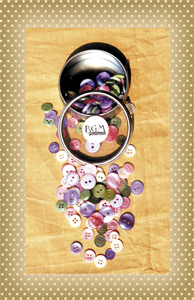 Button Tin Victorian Shades