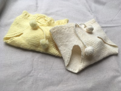 Vintage Pair Hand Knit Baby or Doll Bloomers