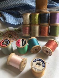Vintage Thread Spools Set of 8